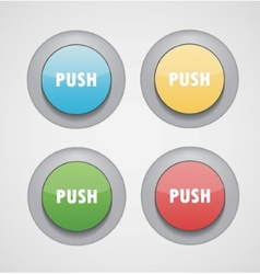 web circle buttons vector image
