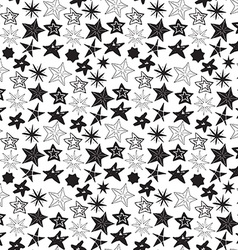 Star sketch doodles seamless pattern hand drawn vector