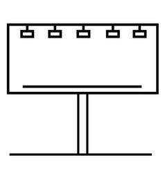 Billboard icon vector