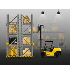 1607i123011Sm004c11forklift warehouse composition vector image vector image