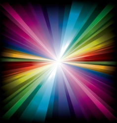 Magic radial rainbow light vector