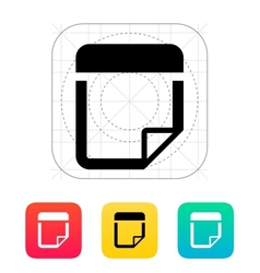 Note icon vector