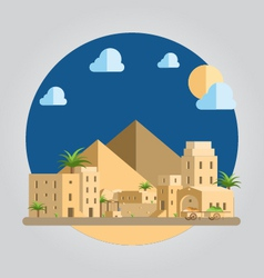 Flat design desert village vector