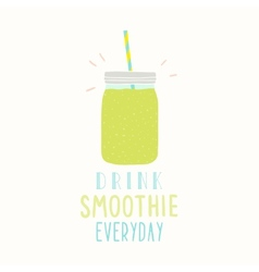 Drink smoothie everyday cute hand drawn jar vector