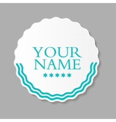 Abstract design label vector