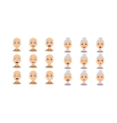 People faces set vector