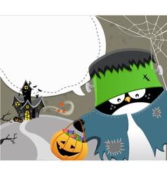 Halloween Frankenstein vector image
