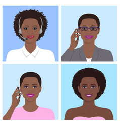african woman avatar vector image vector image