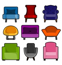 Armchair icon vector