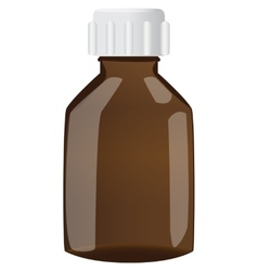 Brown bottle with cap vector image