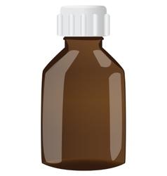 Brown bottle with cap vector