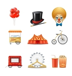 Circus Icons Set vector image vector image