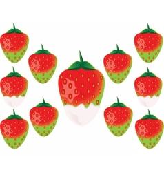 Delicious green strawberry vector image vector image