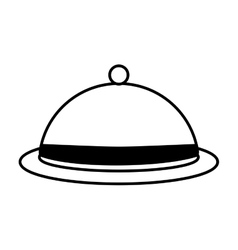 Dome kitchen food service outline vector
