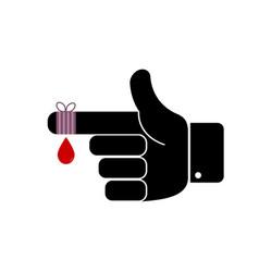 finger bandage vector image