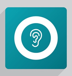 Flat ear icon vector