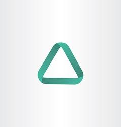 green triangle logo frame icon vector image