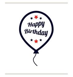 Happy birthday in balloon vector