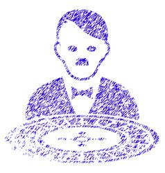 Hitler roulette croupier icon grunge watermark vector