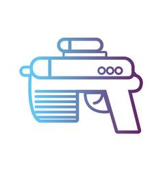 line videogame gun electronic technology vector image vector image