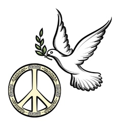 Pacific and the dove of peace vector
