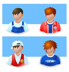 People Icons Boy and Teenage vector image