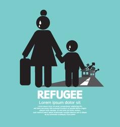 Refugees evacuee symbol vector
