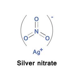 silver nitrate inorganic vector image vector image