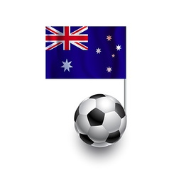 Soccer balls or footballs with flag of australia vector