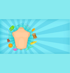 tailor horizontal banner cartoon style vector image