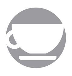 Tea cup isolated icon vector