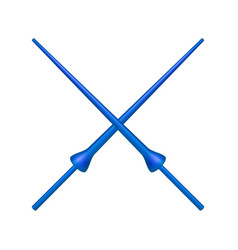 Two crossed lances in blue design vector