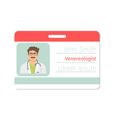 Venereologist medical specialist badge template vector