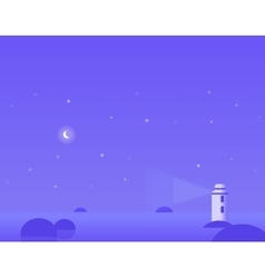 Wallpaper landscape of winter seascape with moon vector