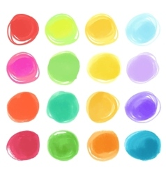 Watercolour marker circle textures drawn stylish vector
