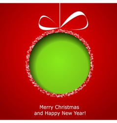 Abstract green christmas ball vector