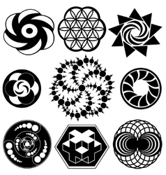 Crop circle designs vector