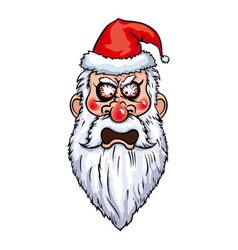 Furious santa head vector