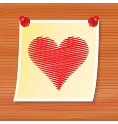 note with valentine vector image