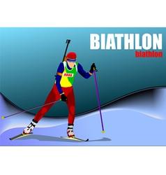 al 0719 biathlon 02 vector image