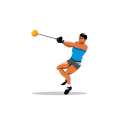 Hammer throw sign vector