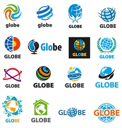 Biggest collection of logos globes vector