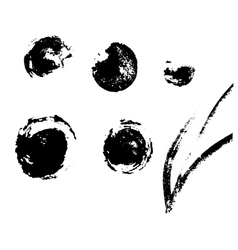 Stains left ink blots for your design vector