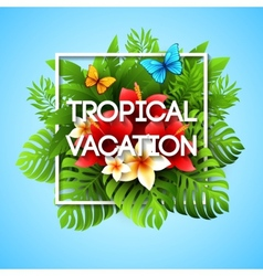 Exotic vacation with tropical vector