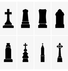 Gravestones vector image