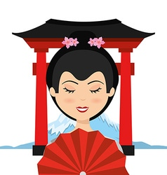 Travel japan vector