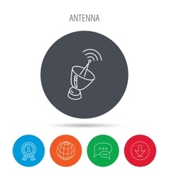 Antenna icon sputnik satellite sign vector