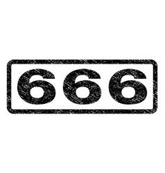 666 watermark stamp vector image