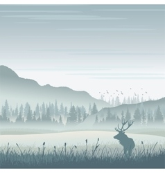 Wild moose in mountains vector