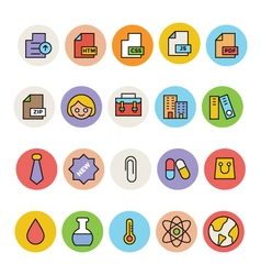 Basic colored icons 9 vector